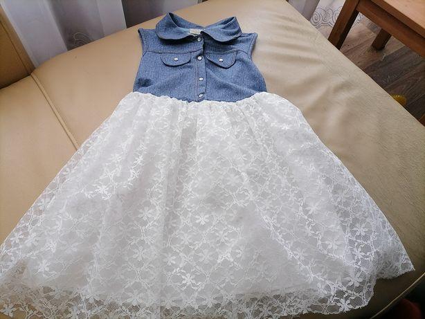 Sukieneczka piękna z tiulem Rozm 110-116