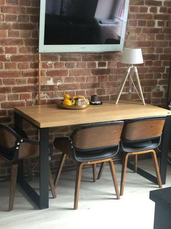 Stół dębowy 160x80 Loft Industrial