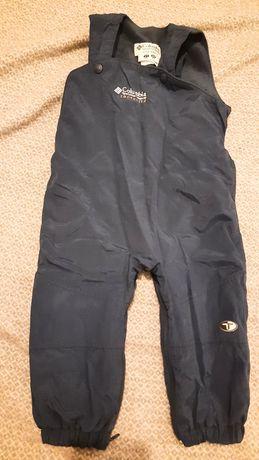 Zimowe ciepłe spodnie narciarskie z szelkami 2 lata 86 cm