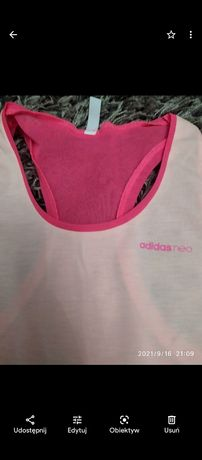 Bluzka sportowa bokserka różowa damska adidas xs