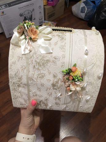 Сундучок для денег на свадьбу для конвертов