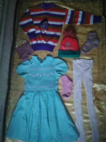 Пакет детская одежда на девочку 5-6-7 лет. Детские вещи; (12- вещей)