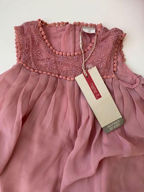 Платье Name it 56 пудровое нарядное Zara или Hm 62 - 68 для принцессы