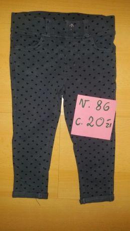 Spodnie dla dziewczynki r. 86 coolclub