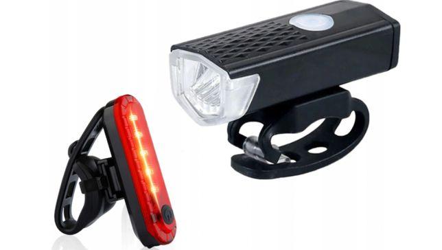 Lampki LED / Tył Przód na USB / rowerowe 2 szt