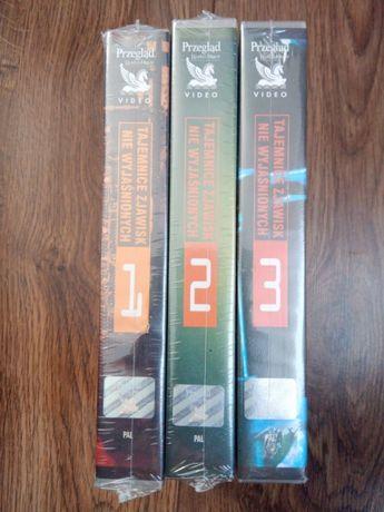 Reader's Digest 3 x NOWE kasety VHS Tajemnice Zjawisk Niewyjaśnionych