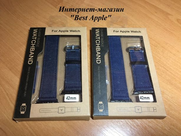 """Ремешок-браслет из Джинсовой ткани стиль """"Denim Casual"""" для AppleWATСH"""