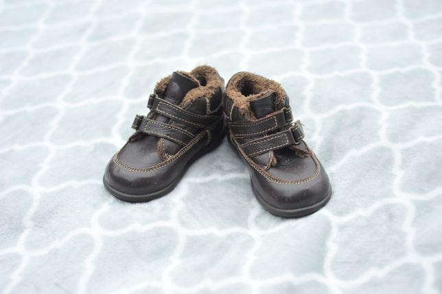 Кожанные демо ботинки Zara на мальчика, 21 р., 13 см