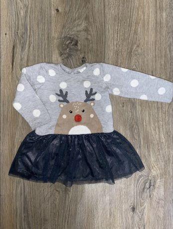 H&M шерстяное платье для грудничка / для девочки
