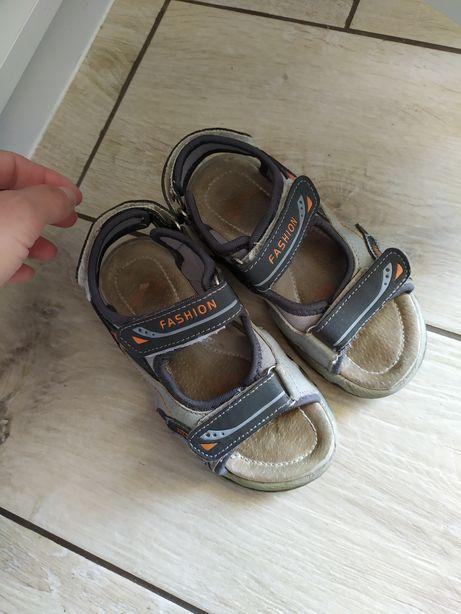 Sandały chlopiece r 28
