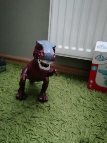 Dinozaur chodzi świeci interaktywny na baterie