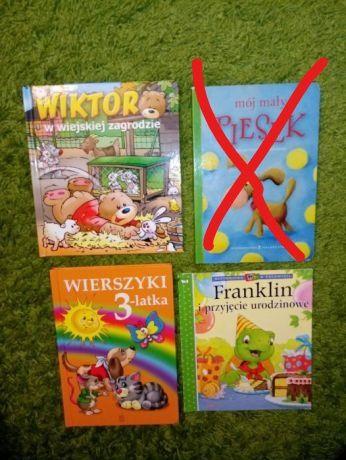 3 książki małe dzieci: Franklin, Wiktor, Wierszyki