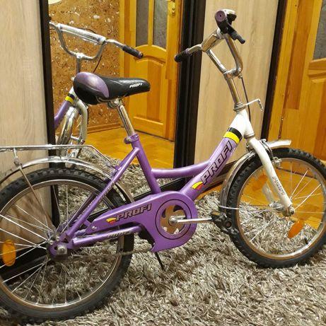 Велосипед дитячий фіолетовий 18