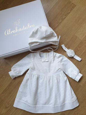 Wyjątkowa sukienka do Chrztu - Abrakadabra roz. 68