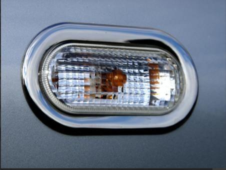 Обводка поворотника (2 шт, нерж) Volkswagen Golf 4 Окантовка поворотни