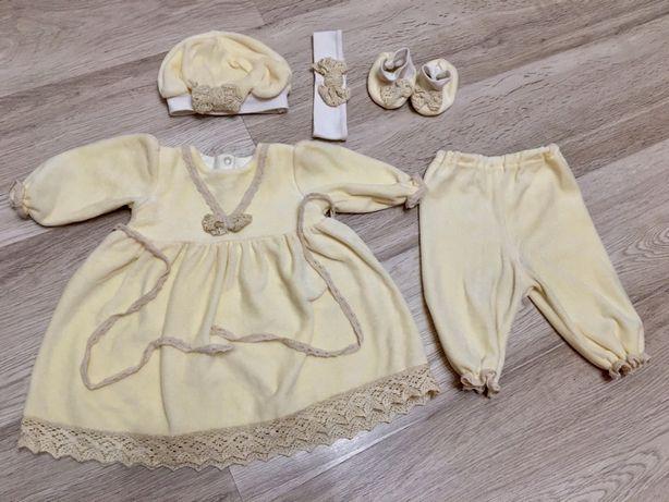 Велюровый костюм на крещение