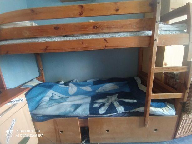 Lozko pietrowe plus dwie szuflady
