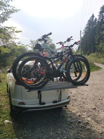 Велокріплення на авто на 3 велосипеди , menabo steel bike 3