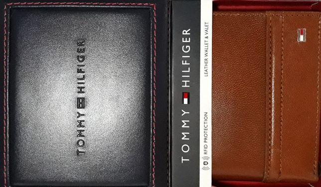 TOMMY HILFIGER Oryginalny! Meski Portfel RFID Skorzany w Pudelku