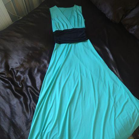 Платье в пол. Цвет- бирюза