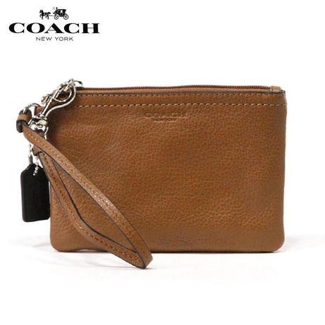 Мини кожиный кошелек клатч сумочка coach