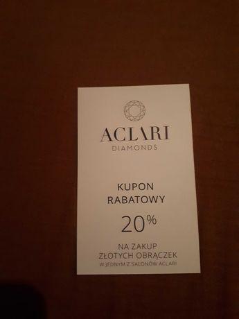 20% zniżki na obrączki Aclari