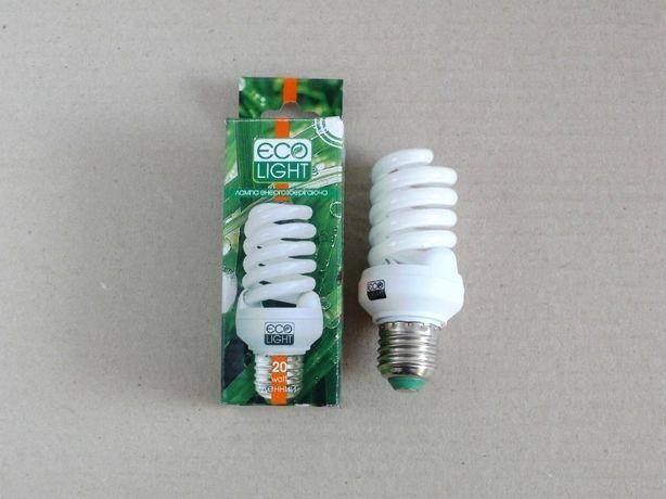 Лампа энергосберегающая Ecolight 20 W / 20 Вт Е27 4000К новая