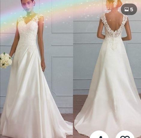 Suknia, piękna, nowa na ślub, wesele, rozmiar S