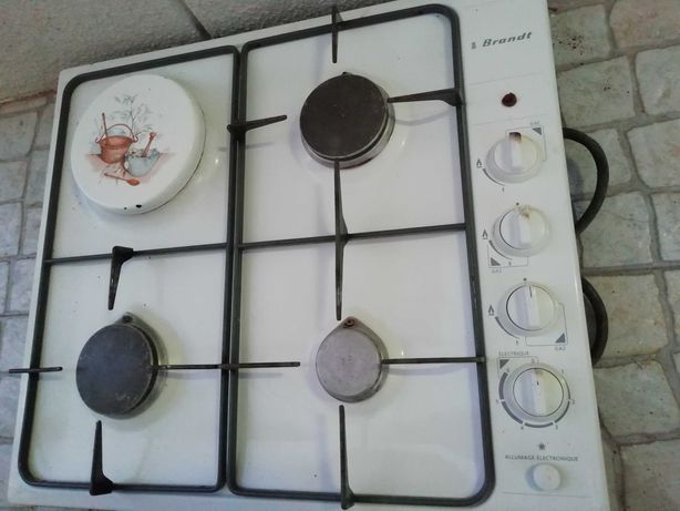 Placa de fogão Brandt 3 bocas a gás e 1 elétrica