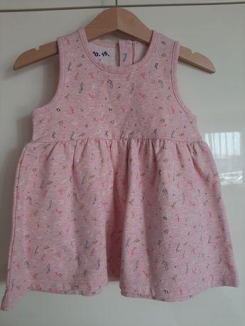 Sukienka dresowa z 5-10-15 rozmiar 80