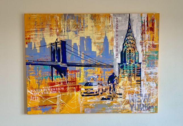 Картина Поп-арт Полотно Акрил New York 60 x 80 см