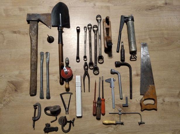 Stare narzędzia PRL duży zestaw