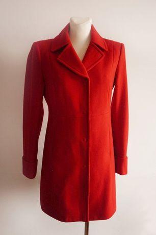 Czerwony płaszcz wełniany wełna bosmanka S/M
