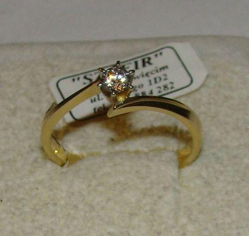 TANIO ! Złoty pierścionek próby 585 14karat-Firma Szafir-Wzór 157