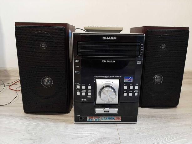 Wieża grająca SHARP XL-UR230H. 5 CD, radio, USB, 100% SPRAWNA!