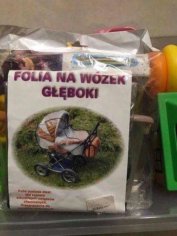 folia na głęboki wózek NOWA