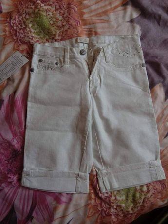 BIAŁE Jeansowe Spodenki BROKAT Roz. XS