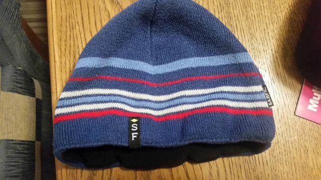 ciepła czapka na zimę z polarem 5-6 lat
