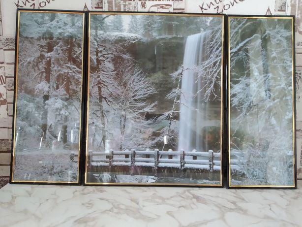 Продам триптих Зимний пейзаж.