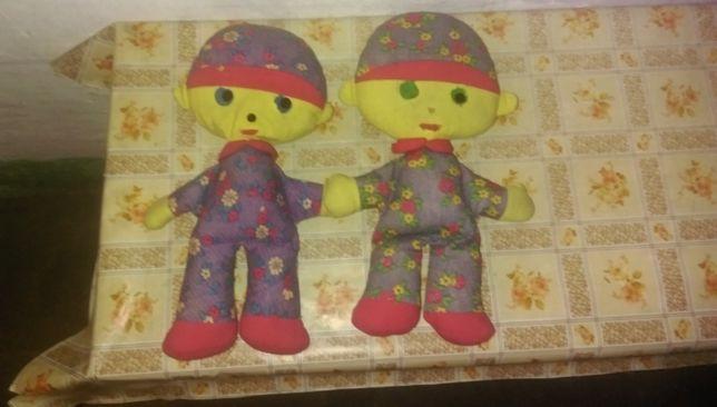 Dwie lalki szmaciane PRL lata 70-80 te.