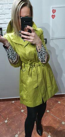 Cytrynowy prochowiec trencz płaszcz Orsay 36