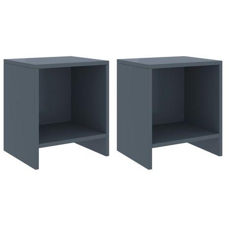 vidaXL Mesas de cabeceira 2 pcs 35x30x40cm pinho maciço cinzento-claro 322243