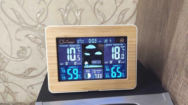 Домашняя метеостанция FanJu FJ3365 Wood