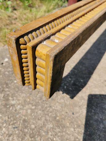 Karnisz  drewniany bogato rzeźbiony Antyk - 100% oryginalny