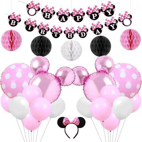 Kit decoração festa aniversário Minnie Disney Balões - portes grátis