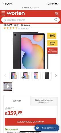 Sansung Galaxy Tab S6 Lite novo + Capa