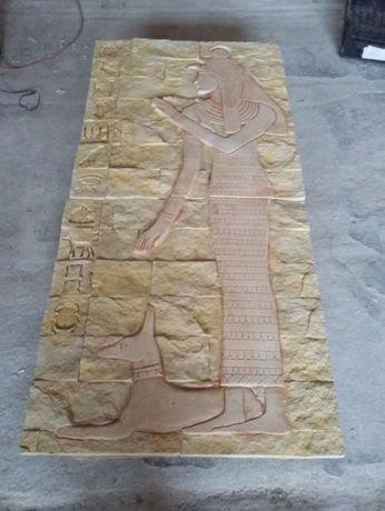 rzezba egipska płaskorzezba egipt stegu 150 cm na 70 cm odlew gipsowy