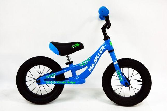 """Majdller First Bike 12"""" Niebiesko / Zielono / Biały 2020"""