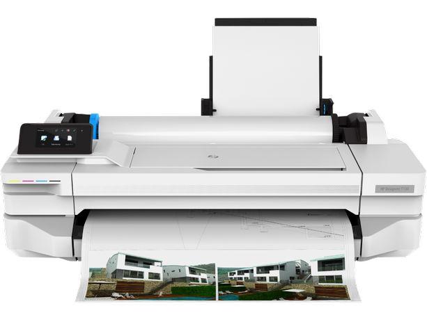 HP DesignJet T125 Wi-Fi, принтер A1, плоттер (возможно СНПЧ)