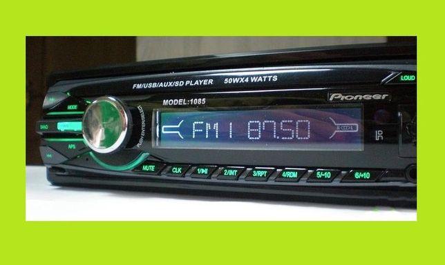 Автомагнитола Pioneer 1085 (съемная панель). Качественый звук !!!